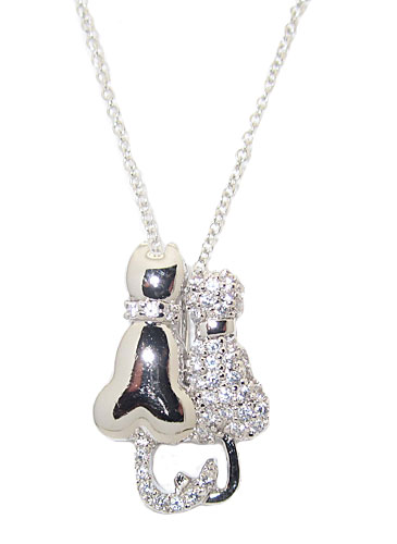 Cubic Zirconia Necklace adjustable chain 16-18 inches