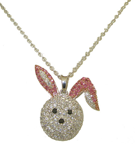 Cz  Bunny Rabbit Necklace
