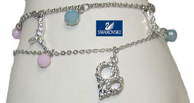 Sea Charm Bracelet  Authentic Swarovski Crystal