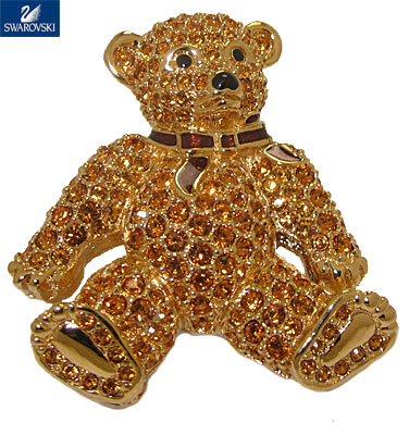 Teddy Bear Pin wholesale Authentic  Swarovski Crystal
