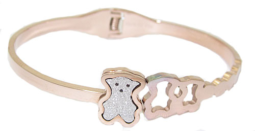 The Bear Bracelet in Rose Gold