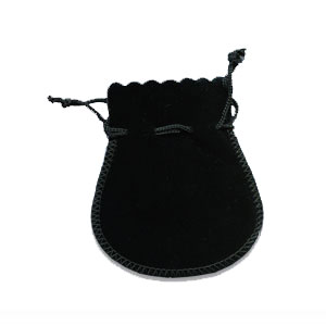 Black Velvet Suedline Pouches 4 pcs