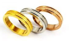 Tri Color Set Three Wedding Bands wholesale jewelry