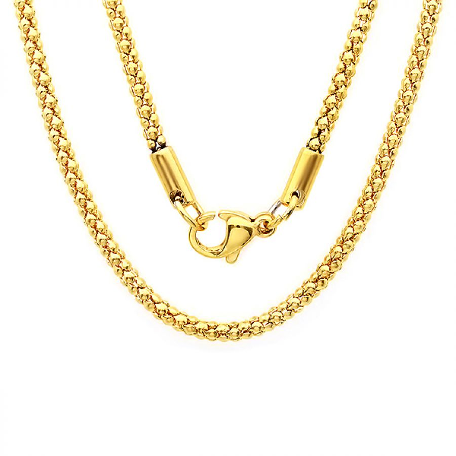 18kt Gold Plated Stainless Steel Necklace 18 inches