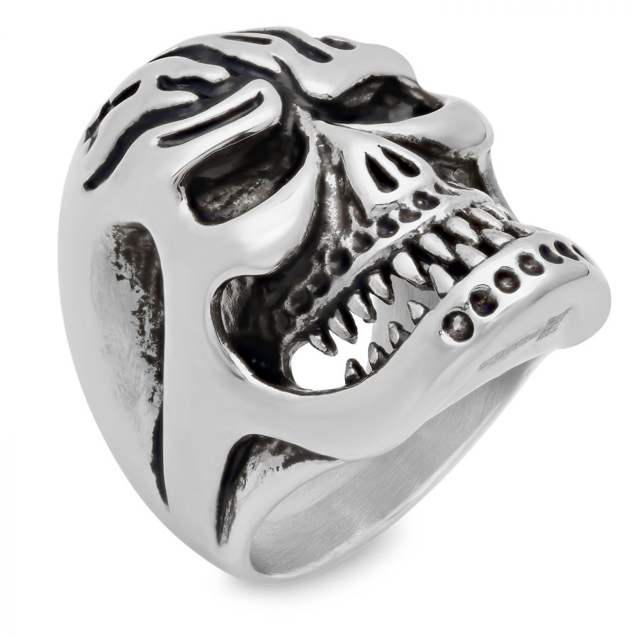 Men�s Stainless Steel Skull Ring